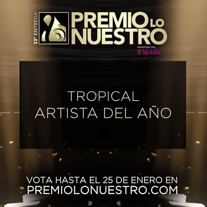 .@LourdesStephen presenta los nominados a #PremioLoNuestro 'Artista Del Año- Tropical' ✨ @carlosvives ✨ @GdZOficial ✨ @gilbertoSR ✨ @JuanLuisGuerra ✨ @MarcAnthony ✨ @princeroyce ✨ @RomeoSantosPage ✨ @SilvestreFDC ✨ @VictorManuelle ✨ @williecolon #NominacionesPLN
