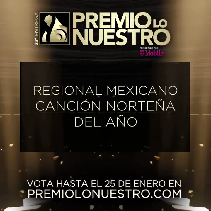 .@LINDSAYDEPORTES presenta los nominados a #PremioLoNuestro 'Canción Norteña Del Año- Regional Mexicano' 🎵 El Envidioso 🎵 En Honor A Ti 🎵 Más Te Recuerdo 🎵 Otra Borrachera 🎵 Sólo Tú ¡Vota hasta el 25 de enero! #NominacionesPLN