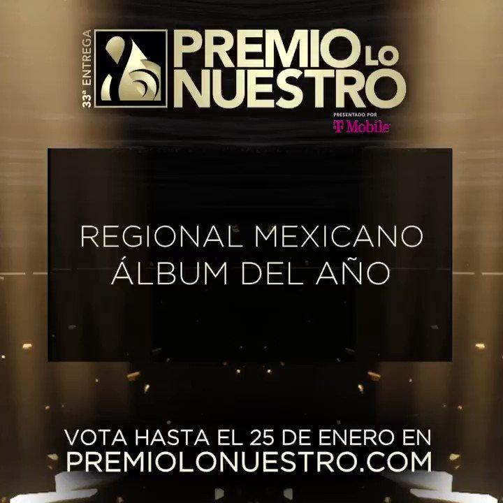El Chef Yisus presenta los nominados a #PremioLoNuestro 'Álbum Del Año Regional Mexicano'.  ¡Vota hasta el 25 de enero! #NominacionesPLN