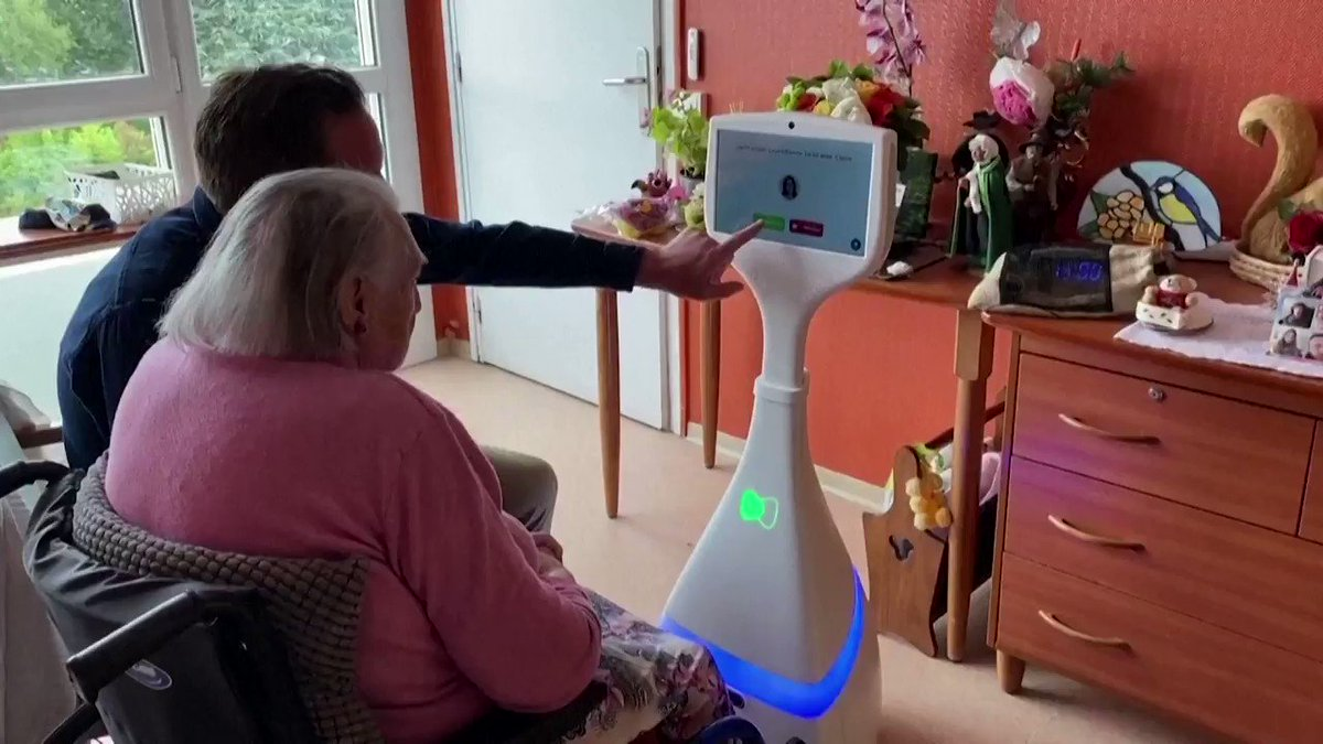 WATCH: After nearly a year of increased isolation for seniors, a French company is hoping its autonomous and AI-driven companion robot will bring the relief many people desperately need