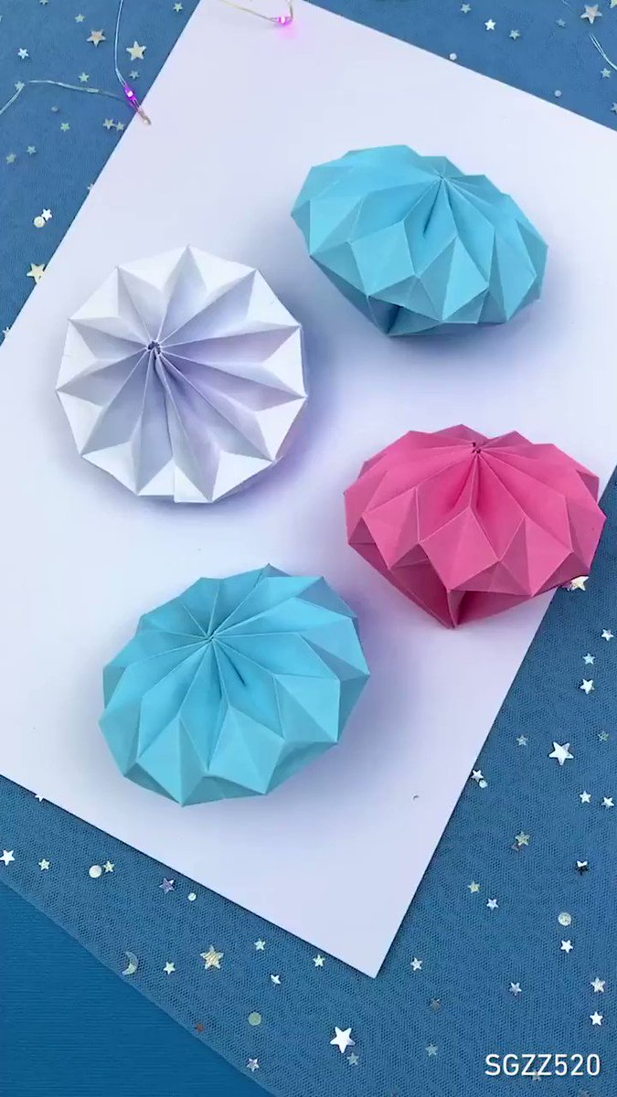 How to make origami diamond  📹  SGZZ520