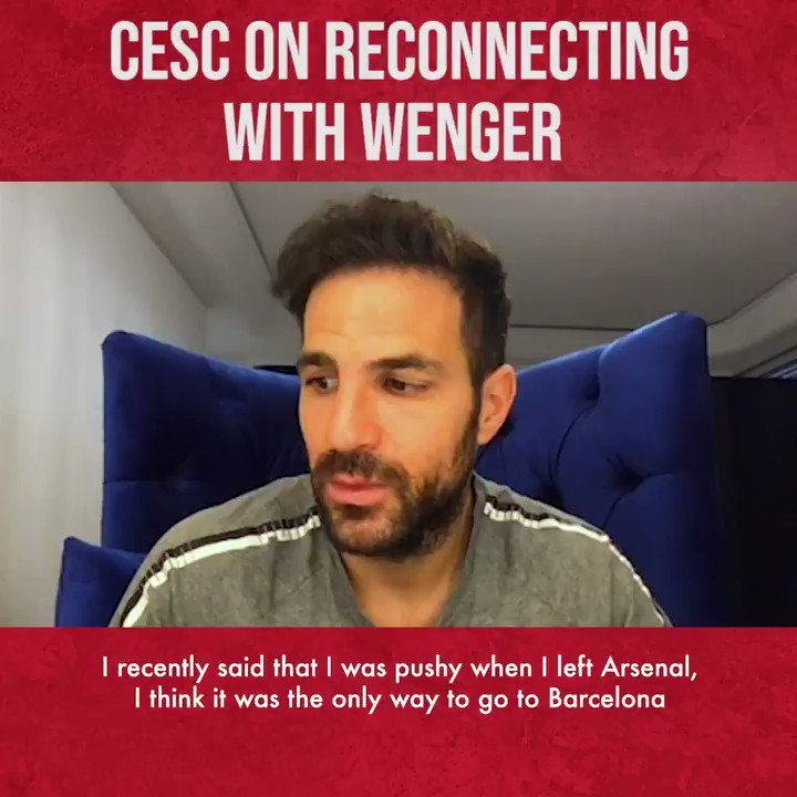 """🗣""""He's like a father to me.""""  @cesc4official tells @GuillemBalague how he'd love to properly reconnect with Arsene Wenger on this week's episode of the Pure Football Podcast.  Listen now:   #arsenalfc #arsenal #gunners"""