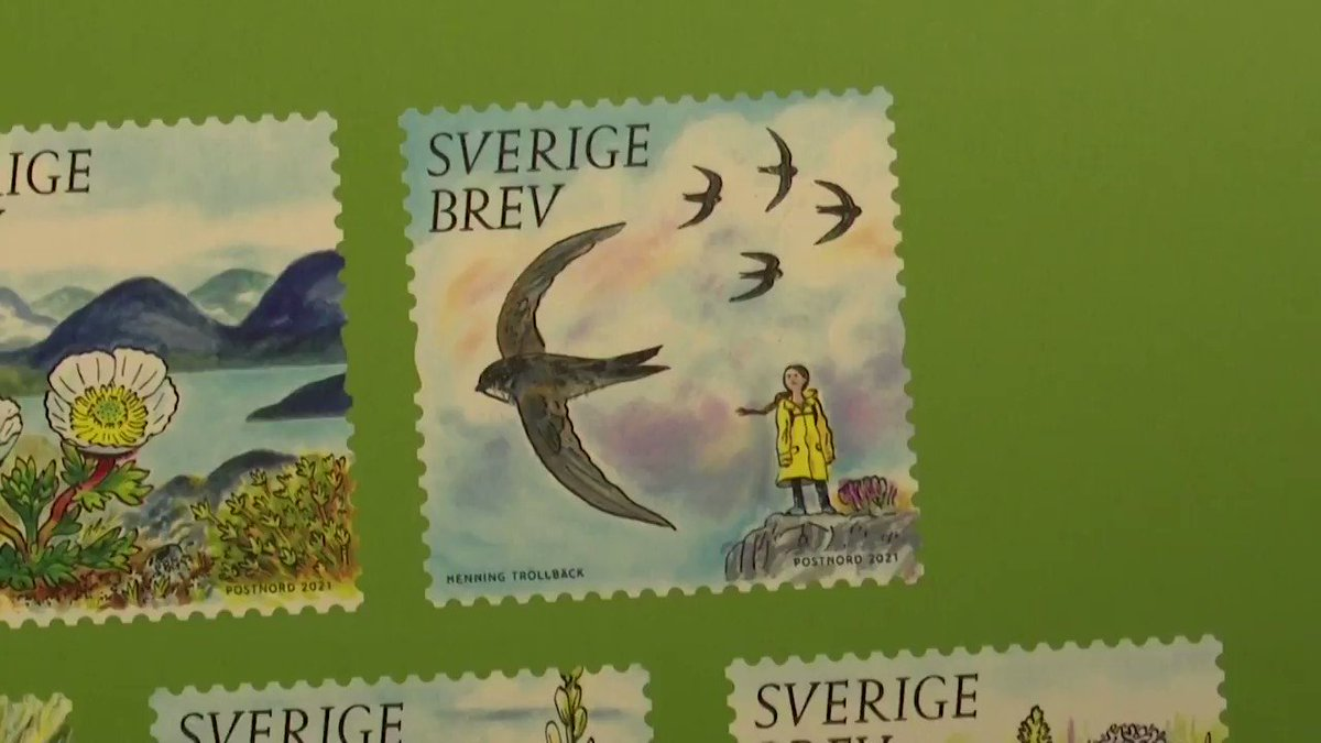 Climate activist @GretaThunberg is being featured on Swedish stamps https://t.co/iWkjYPrxU2 https://t.co/4lyZCjHdUA