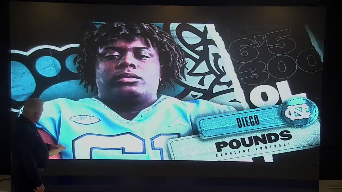 A big, athletic offensive lineman from right in our backyard.  Let's hear what @CoachMackBrown has to say about @chaboiidiego.  #CarolinaFootball 🏈 #BeTheOne
