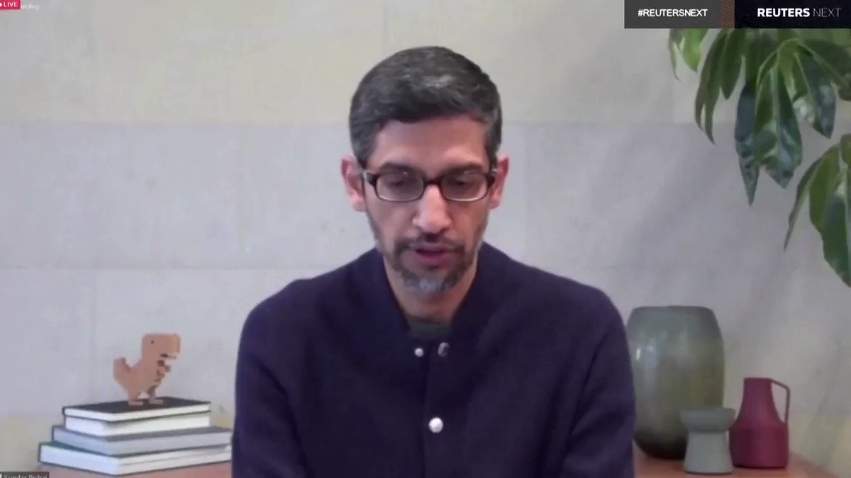 Sundar Pichai, chief executive of Google parent Alphabet, said YouTube has removed thousands of political videos since the United States certified the results of its election https://t.co/N1ScjQTWw4 #ReutersNext https://t.co/q7V4vR4Yy6