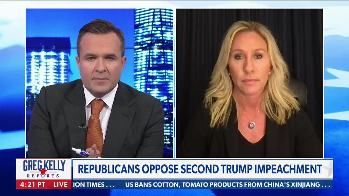 """""""On behalf of the American people - on January 21st I will be filing articles of impeachment on Joe Biden.""""  """"We have to make sure our leaders are held accountable,"""" says @mtgreenee."""