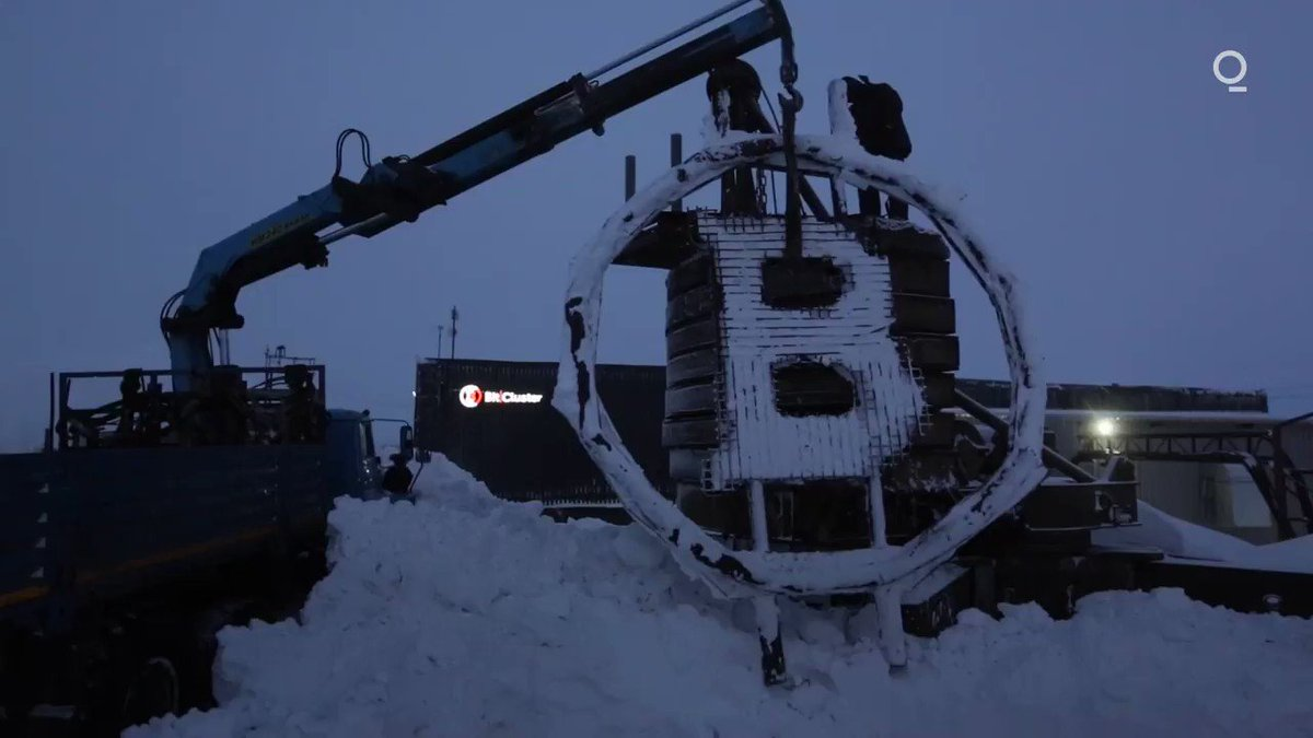 A Russian crypto company is opening up a #bitcoin farm in the remote Siberian city of Norilsk.  Here's a look at the first crypto farm in the Arctic