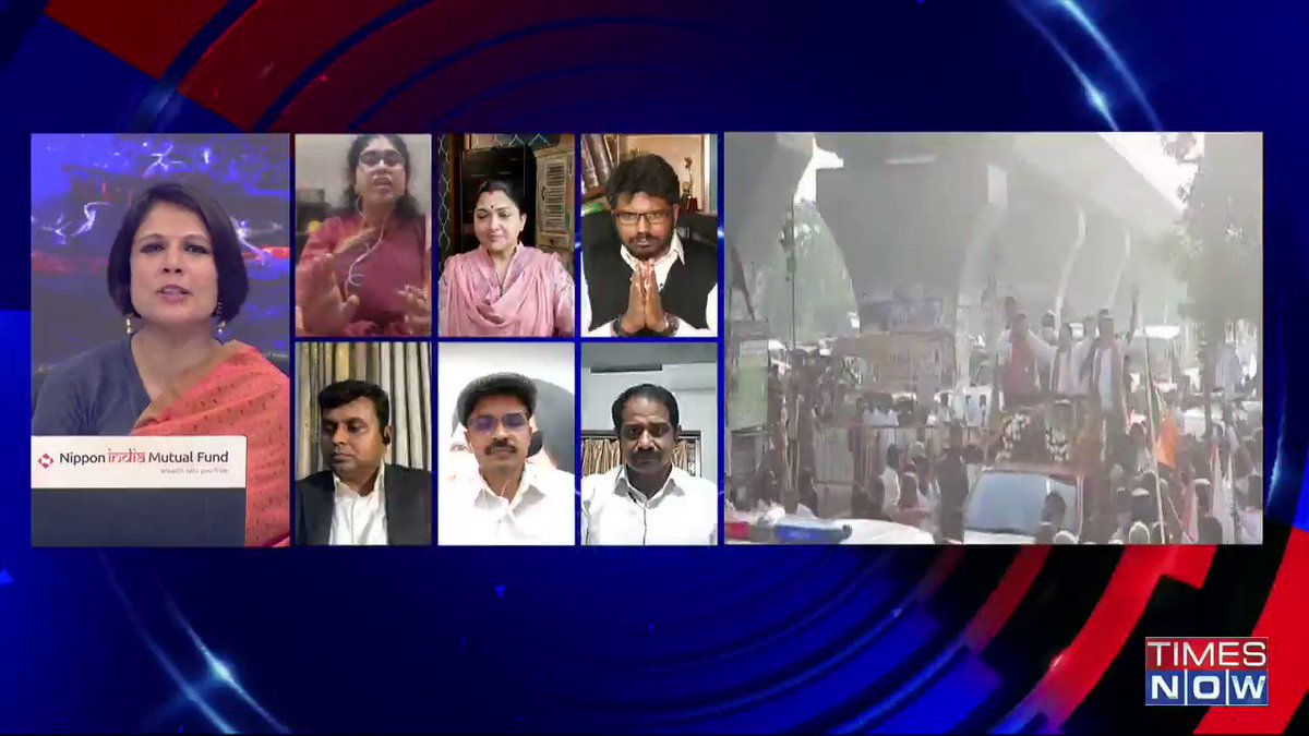Why to give so much of importance to @RahulGandhi? He is just one of the 44 MPs that Congress has: @khushsundar, Leader, BJP, tells Padmaja Joshi on @thenewshour AGENDA. | #RahulTamilTour