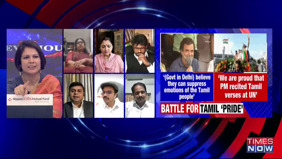 PM Modi wanted to enhance his stature and wanted portray that he is from very old civilisation (by speaking in Tamil): @asaravanan21, DMK Spokesperson, tells Padmaja Joshi on @thenewshour AGENDA. | #RahulTamilTour