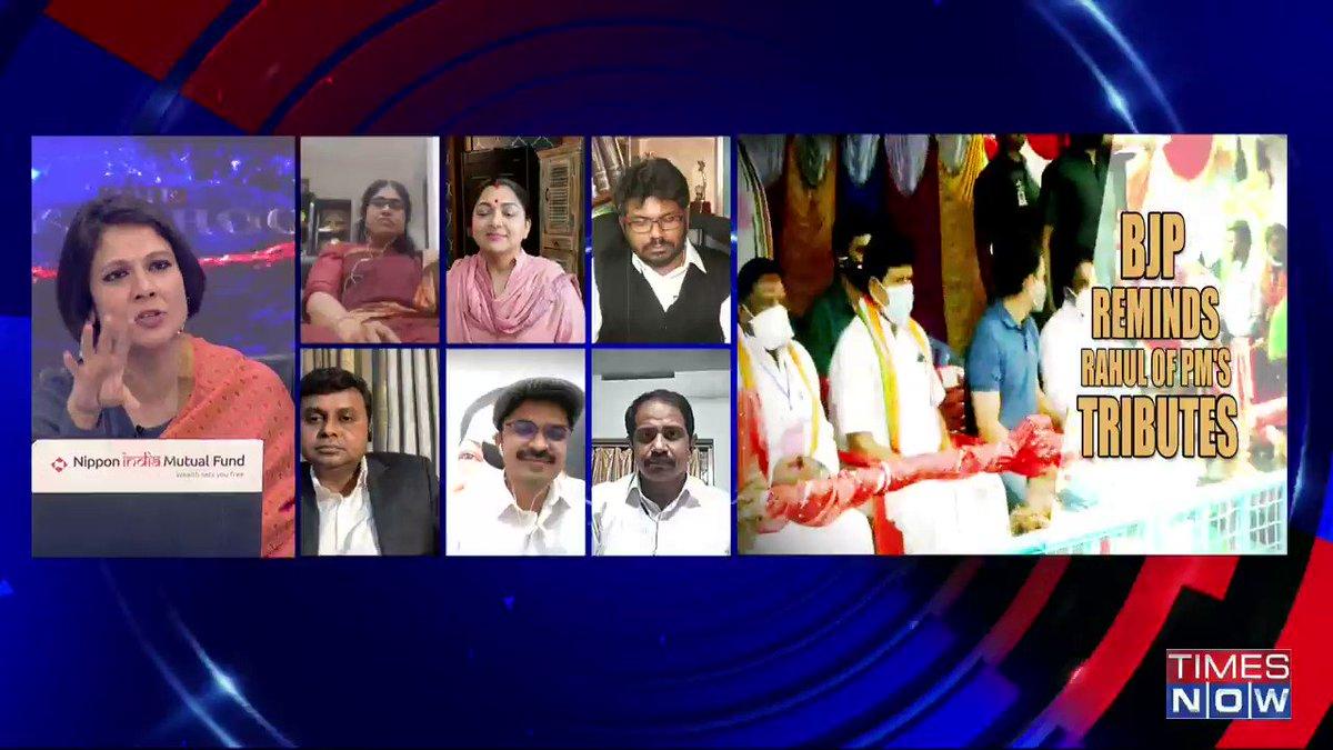 Is BJP really interested in promoting Tamil culture? : @VijayadharaniM, MLA, Tamil Nadu Assembly CLP Chief Whip, tells Padmaja Joshi on @thenewshour AGENDA. | #RahulTamilTour
