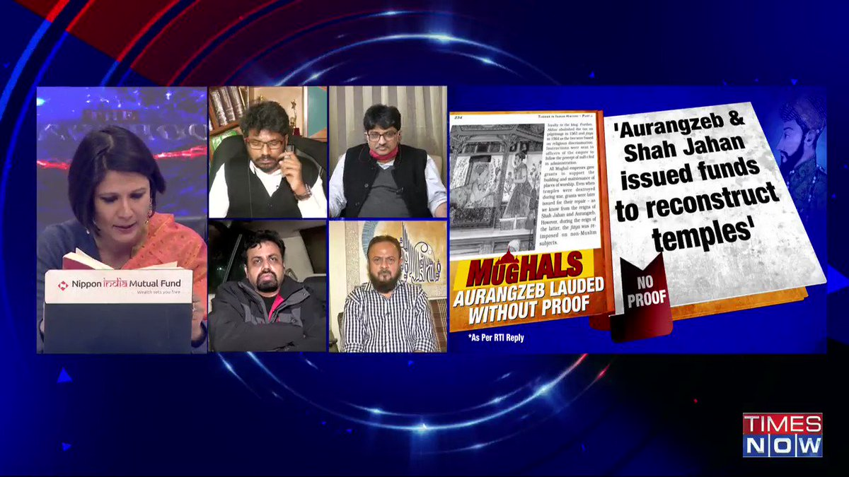 It should be put in the realm of history and should not be made a communal thing (Aurangzeb gave grants to repair temples controversy): @zafarsareshwala, Former Chancellor, Maulana Azad National Urdu University, tells Padmaja Joshi on @thenewshour AGENDA. | #AurangzebWhitewashed