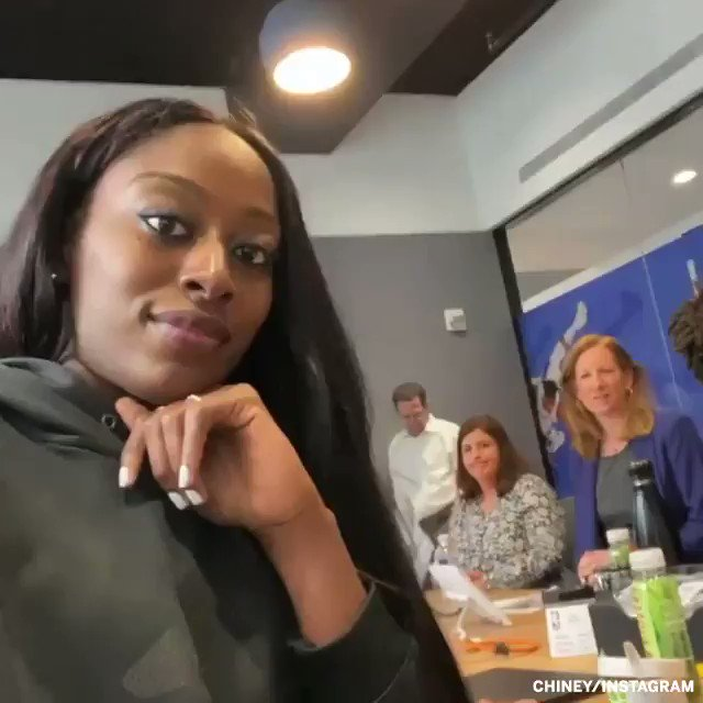 One year ago today, the @WNBA and the players' union announced that they had agreed to terms on a groundbreaking collective bargaining agreement 🙌  (🎥 @chiney)