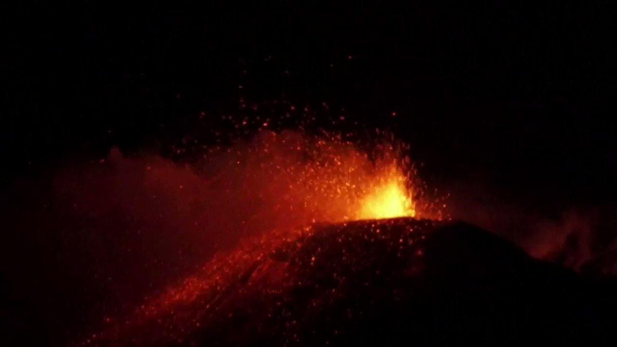 WATCH: Mount Etna volcano erupts, lighting up night sky in Italy