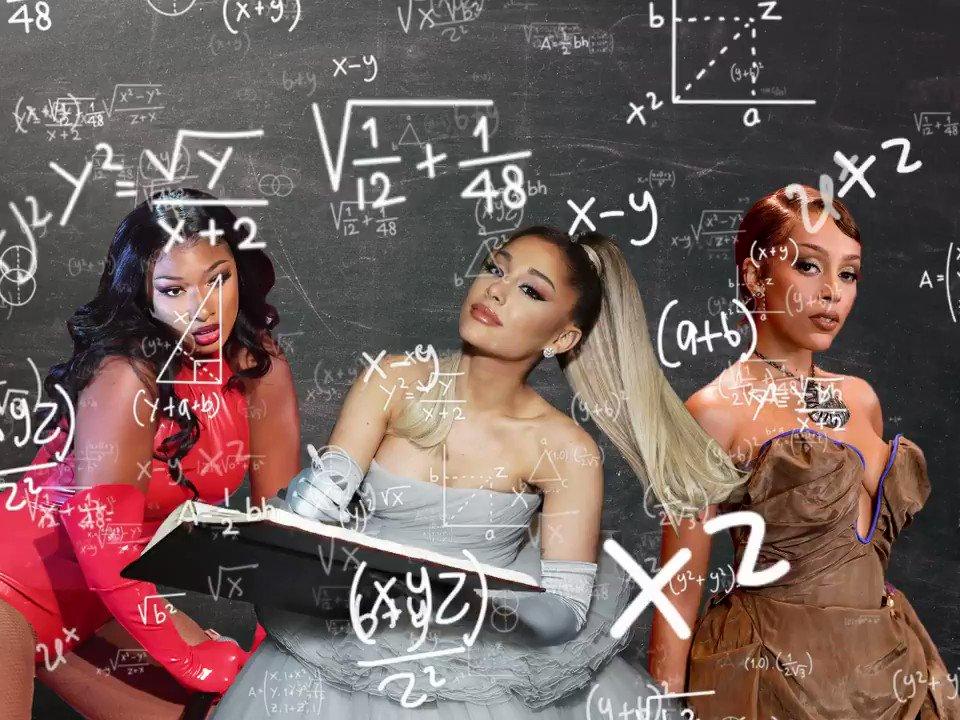 Suddenly I love math when @ArianaGrande, @theestallion and @DojaCat are my teachers!!!!!! #3435Remix