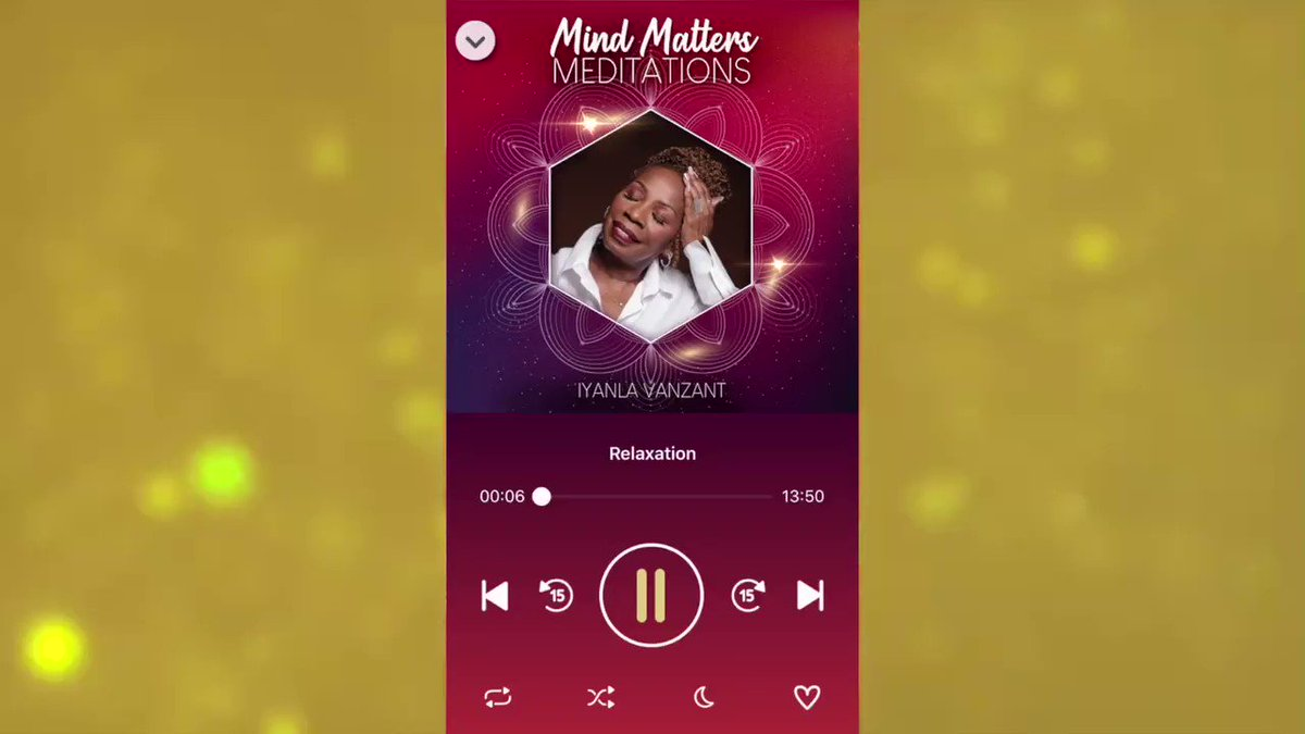 NEW! Mind Matters Meditations To Soothe and Heal the Mind by Iyanla Vanzant   Now available for iOS and Android.  #iyanla #iyanlavanzant #iyanlameditations #mindmattersmeditations #fixmylife #iyanlafixmylife #fearnot #soothingmeditations #guidedmeditations