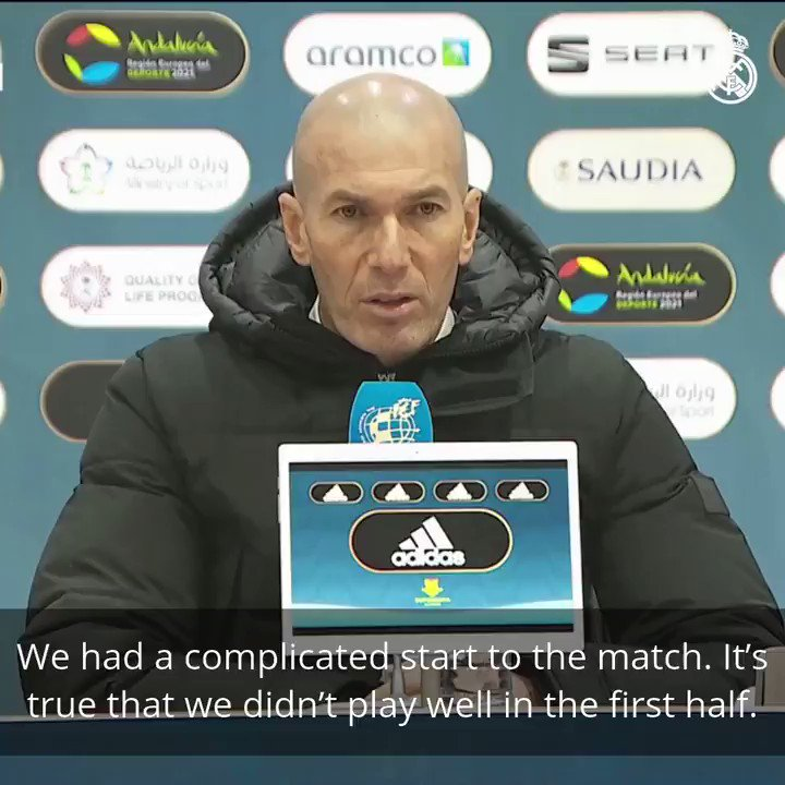🎙️ This is what Zidane had to say after our Super Cup semi-final match. #RMSuperCopa | #HalaMadrid
