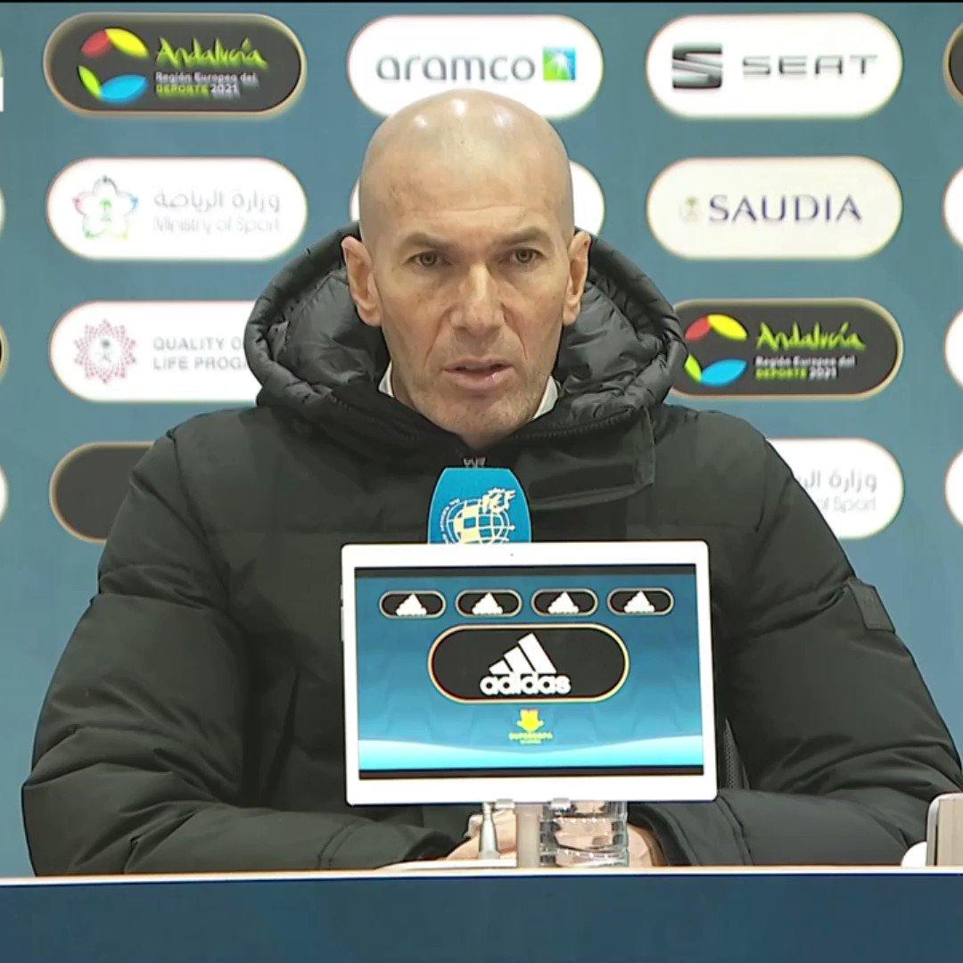 👉  👈 RT @realmadrid 🎙️  Las palabras de Zidane tras la derrota en La Rosaleda.  #RMSuperCopa | #HalaMadrid