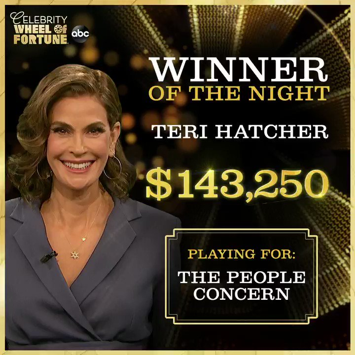 What a win! 🎉 Congrats to @HatchingChange on the huge winnings for her charity, @ThePplConcern! #CelebrityWheelOfFortune