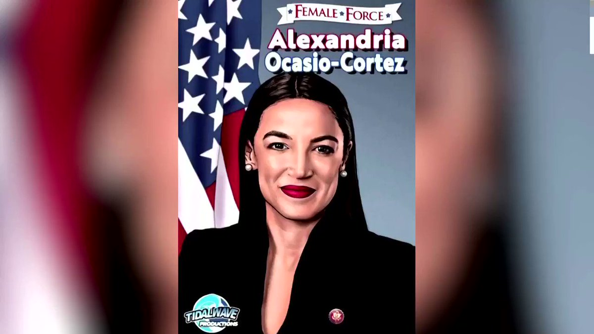WATCH: Alexandria Ocasio-Cortez appears in a new comic book as part of TidalWave Productions' Female Force series