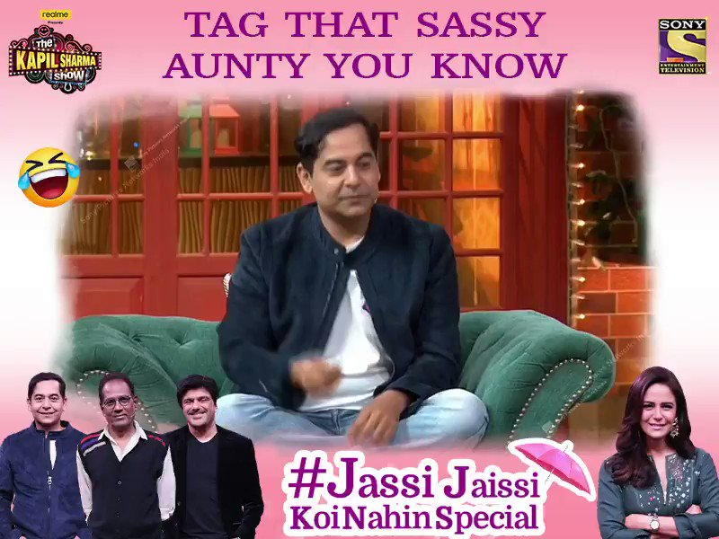 We all have that one SASSY AUNTY in our life, tag her and meet Mona Singh, Gaurav Gera, Sameer Soni, Virendra Saxena only on #TheKapilSharmaShow tonight at 9:30 PM.