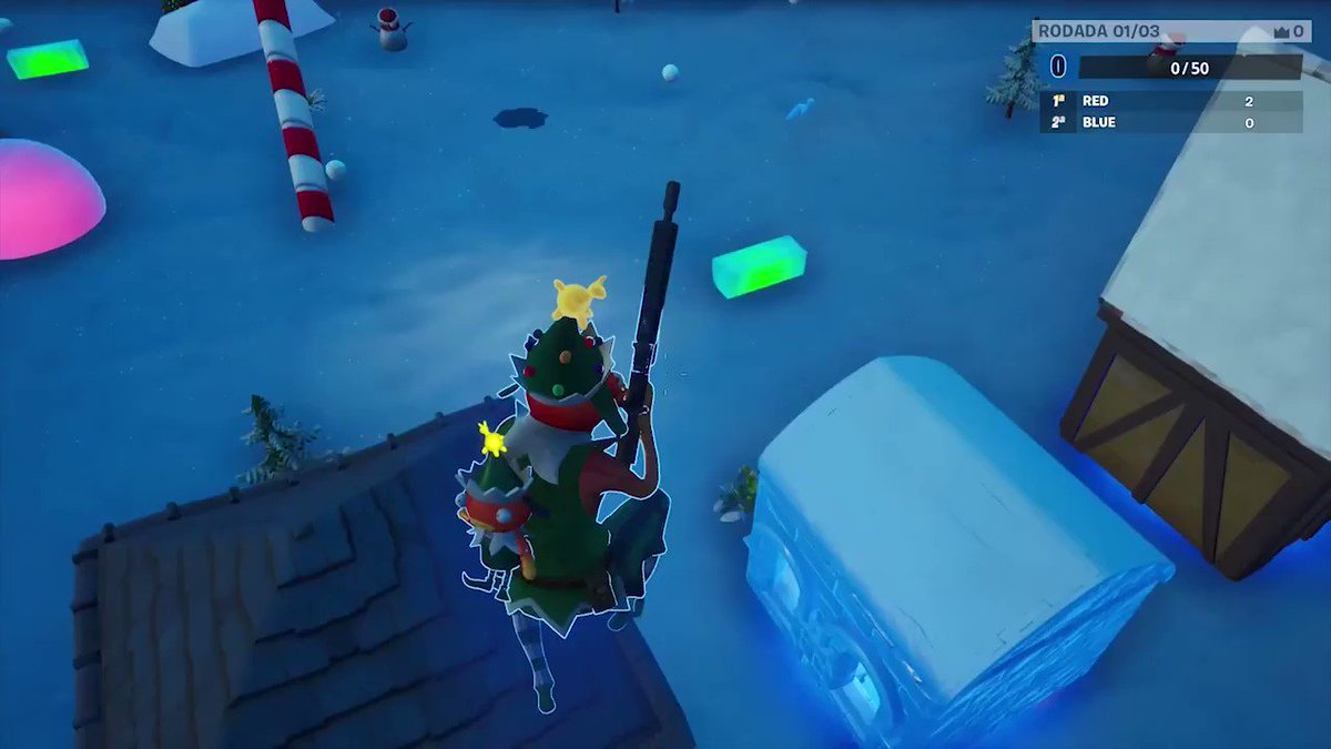 Two teams face off in an icy arena to see who can deliver the most presents! Who will take home the #FrostyFortnite… https://t.co/L6KGkbHakU