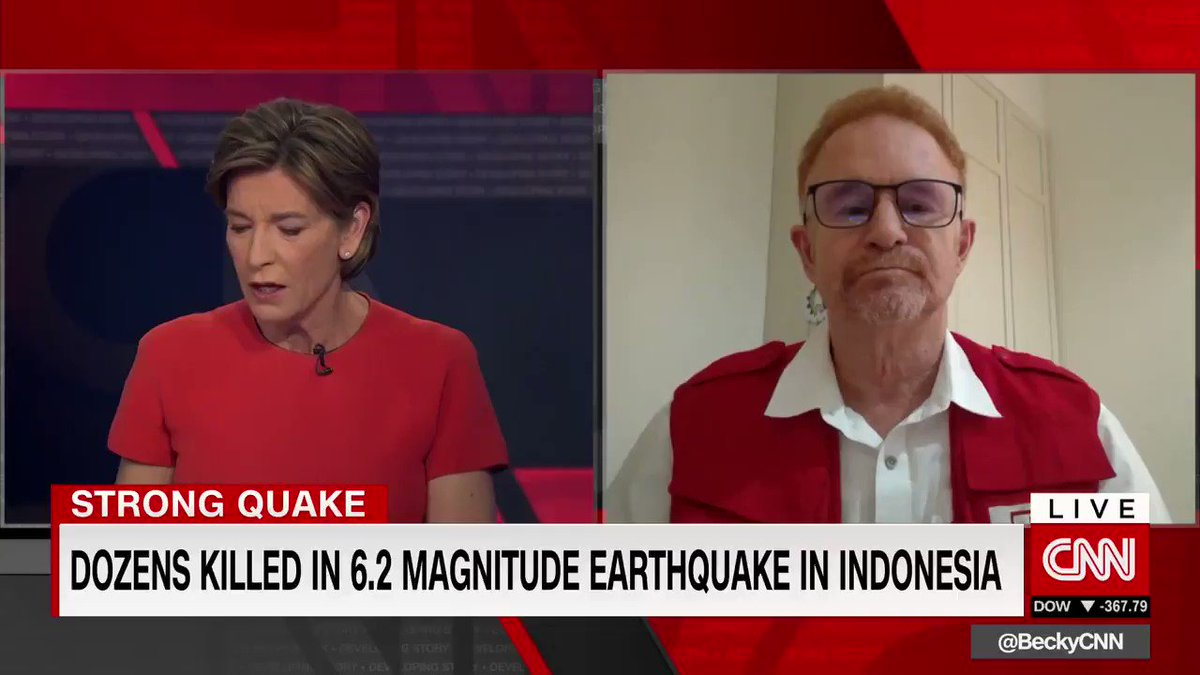 """""""Every hour counts… but it's chaos.""""  @jan_gelfand tells @BeckyCNN people seem to be forgetting the earthquake in #Majene is happening in the middle of a pandemic."""