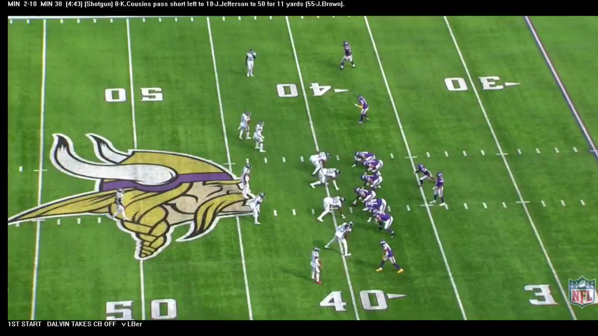 @Vikings @JJettas2 is my choice for #NFL OROY. Already one of the top route runners in the league and after the catch....watch out! First it was Moss; now Jefferson.  #Skol #BaldysBreakdowns