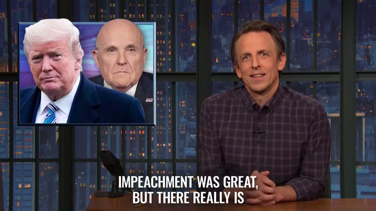 """There really is no more perfect way for this to end than Trump stiffing Rudy."" – @SethMeyers #ACloserLook"