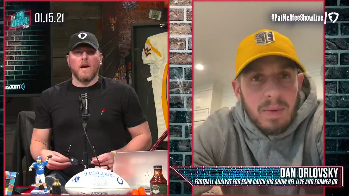 Are you going to coach the #Eagles or what @danorlovsky7? #PatMcAfeeShowLIVE