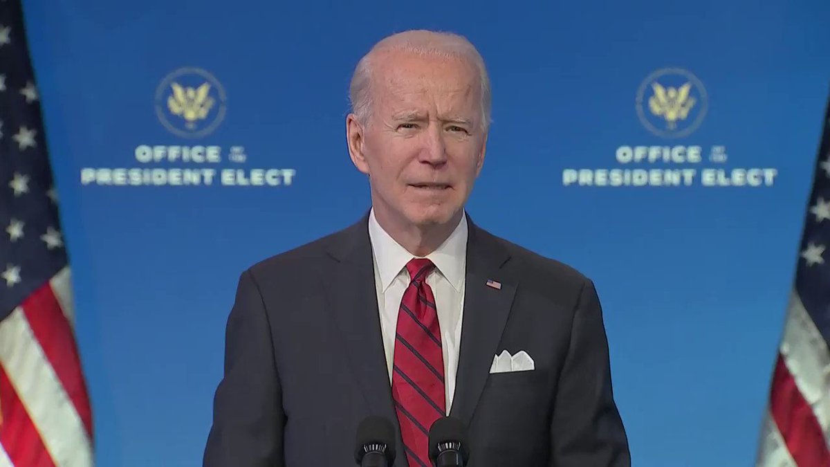 Biden promises to be transparent with state governments and the American people about vaccine supplies and decisions
