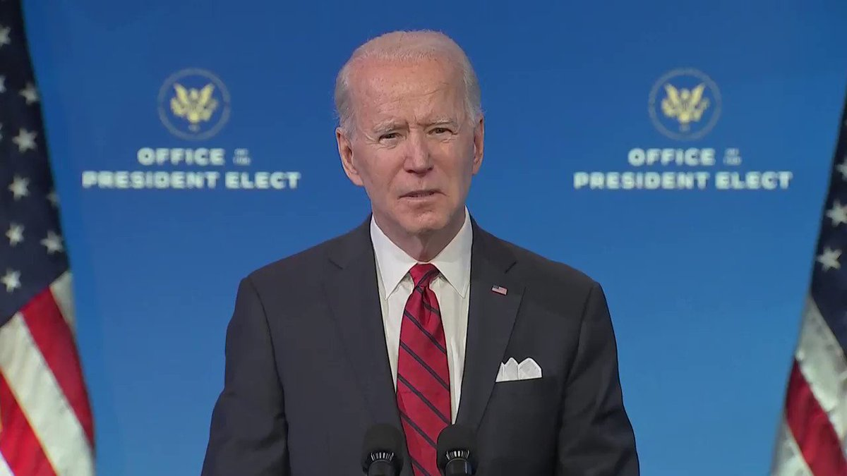 Biden on vaccines: 'You have my word, we'll manage the hell out of this operation'