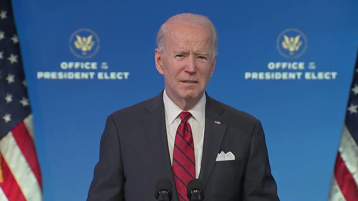 Biden calls out lawmakers who wouldn't mask up during the Capitol attack: 'I know [masks] have become a partisan issue, but what a stupid, stupid thing for it to happen …  what the hell is the matter with them? It's time to grow up'
