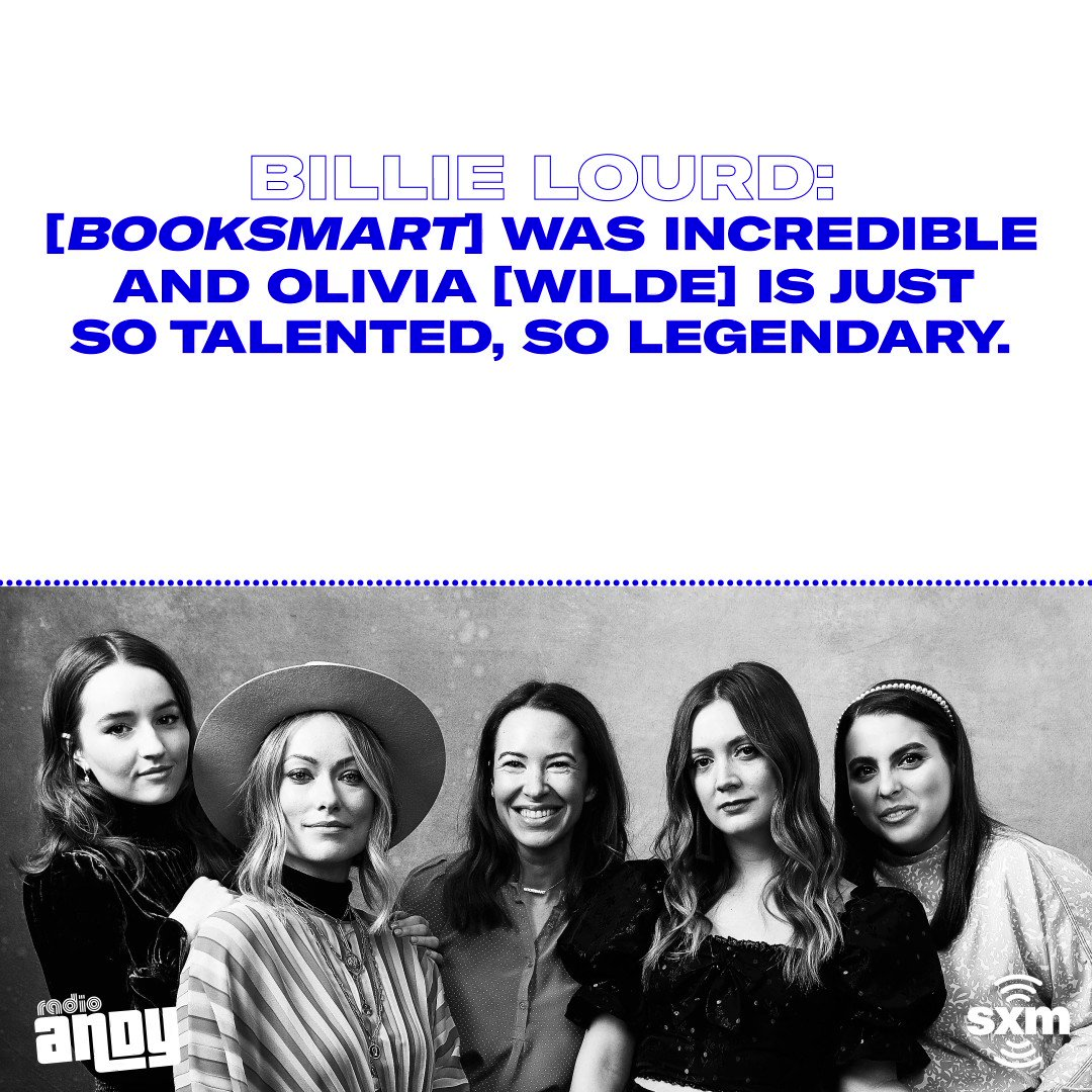 No surprise here, but it sounds like working with @oliviawilde on @Booksmart was a dream! 📚 Listen to the rest of Billie Lourd's interview with @Brucebozzi on @RadioAndySXM: