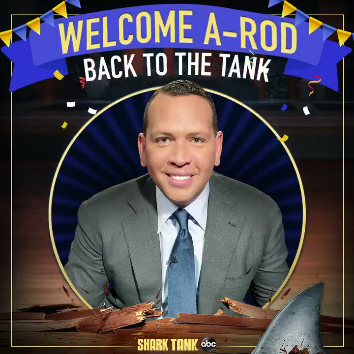 .@AROD is jumping back into the #SharkTank tonight! Find out if he makes any deals at 8|7c on ABC 🦈