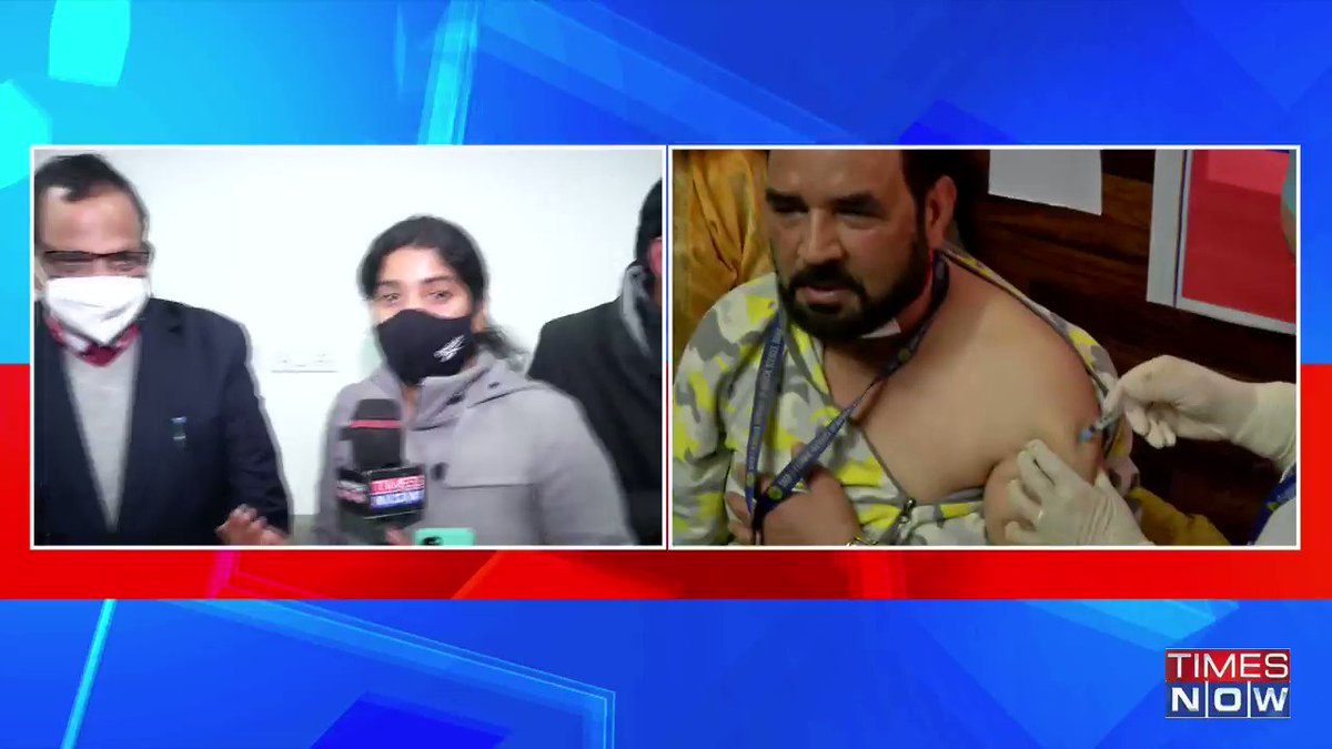 #WATCH | Dr VK Paul (NITI Aayog member) & Dr Randeep Guleria (AIIMS Director), both of them who got a jab of the Covid-19 vaccine today, share their experience with TIMES NOW's Sherine Elizabeth. | #IndiaGetsVaccinated