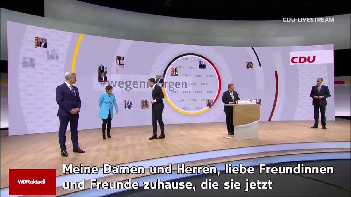 Als neuer CDU-Vorsitzender will @ArminLaschet alles dafür tun, dass die Union den nächsten Kanzler stellt. #cduparteitag #Laschet