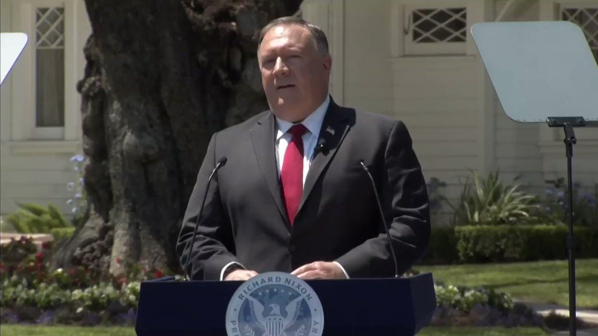 """JUST IN - Pompeo: """"Communist China is already within our borders."""""""