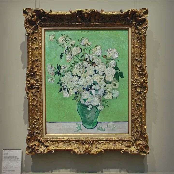 "What would van Gogh's ""Roses"" from the @metmuseum look like on your wall? Head over to the #TheMetUnframed ""Home Galleries"" to learn more about the painting, complete the challenge, and take it home on loan in AR. #HomeGalleries"