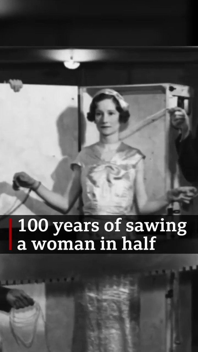 Illusionists around the world are taking part in an online celebration to mark 100 years since magician PT Selbit first performed the trick of sawing a woman in half. Magician Michael J Fitch and his wife, Helen, spoke to the BBC about the trick bbc.in/3ijrP4f