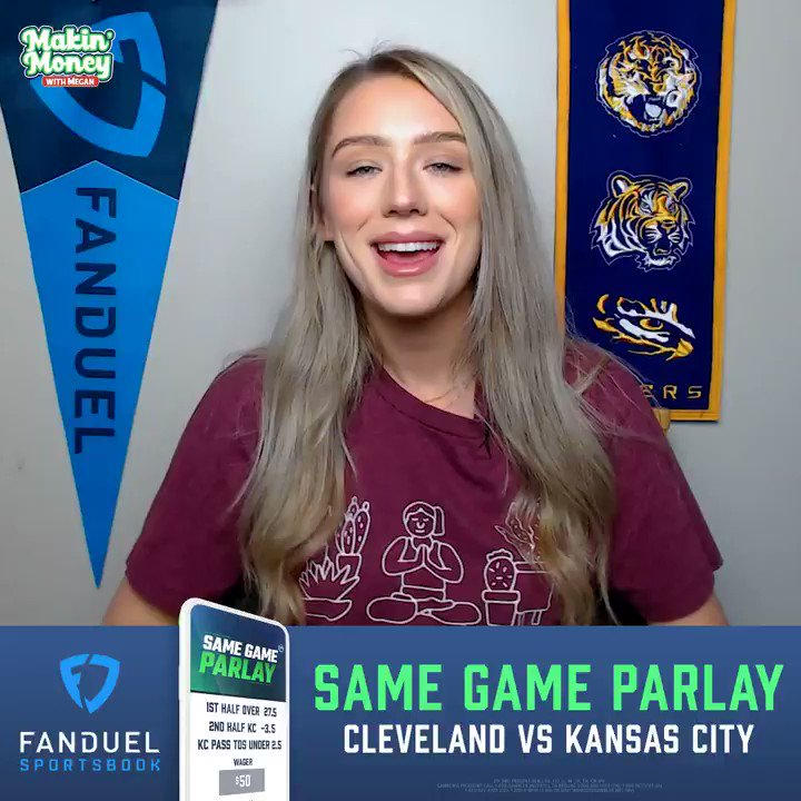 """""""Let's have a Sunday!"""" 🤑  @MeganMakinMoney dishes out her favorite #SameGameParlay picks for Chiefs-Browns ⬇️"""