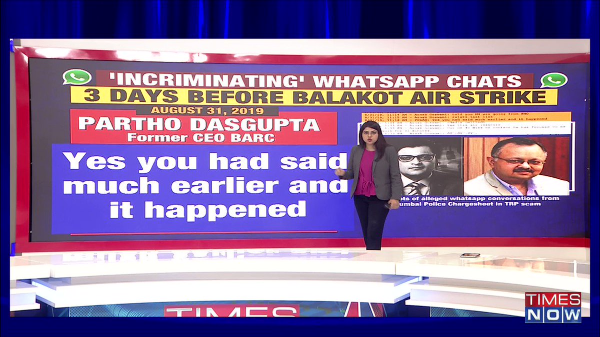 #ArnabChatGate | 20-part '#ArnabChatGate' sends ripples across NATI. WhatsApp chats have unmasked the alleged 'quid pro quo'. Auditors add up losses to national media.