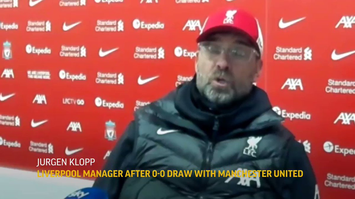 VIDEO: Jürgen Klopp on Liverpool's struggles.  It's 4 games without a win and 3 without scoring in the #PremierLeague for the champions after being held 0-0 by leader Manchester United.  #lfc #mufc