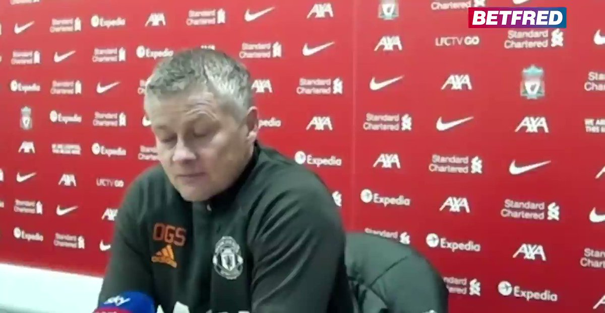 """🗣️ """"We've come quite a bit from when we were here last time!""""   Ole Gunnar Solskjaer speaks after his match against Liverpool, which ended 0-0 at Anfield  #MUFC #LIVMUN"""