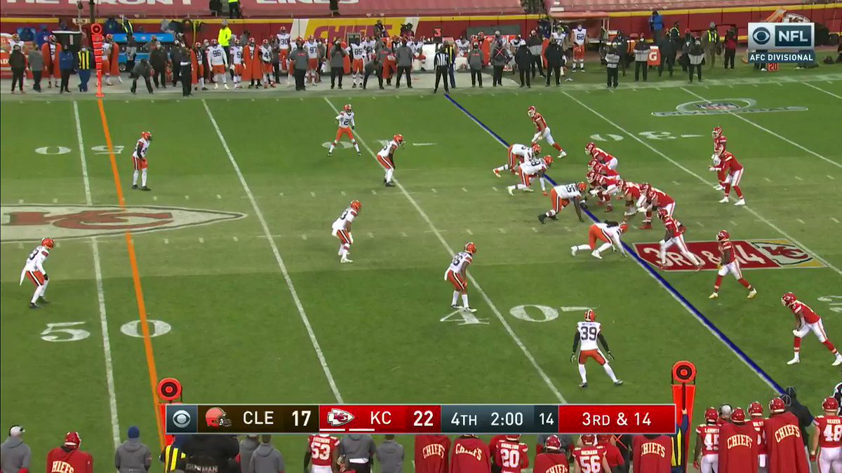 This effort from Chad Henne 😱  #RunItBack #NFLPlayoffs  📺: #CLEvsKC on CBS 📱: NFL app // Yahoo Sports app:
