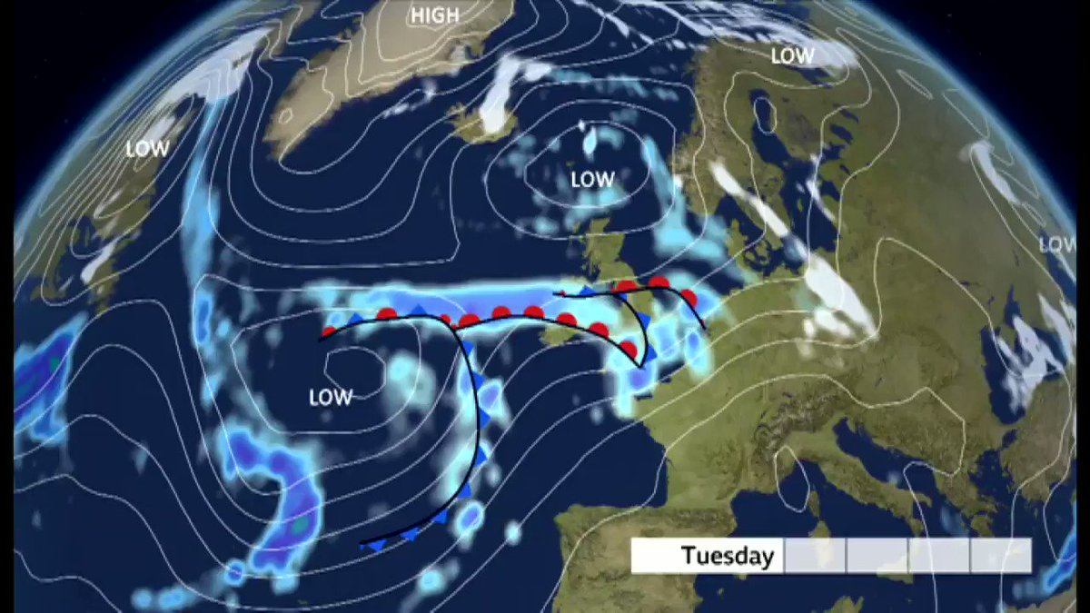 #StormChristoph  The Met Office have named the low pressure system moving in from the Atlantic during Tuesday and Wednesday - Storm Christoph. Warnings here: