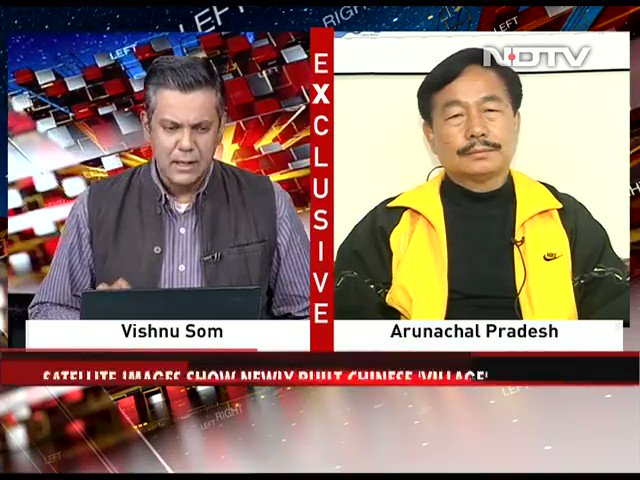 "@RajatSharmaLive @indiatvnews #LeftRightCentre | ""China has constructed about 50-60 km long two-lane road into India"": Tapir Gao, BJP MP, Arunachal Pradesh   #NDTVExclusive ye congress ke neta he Kya...⁉️"