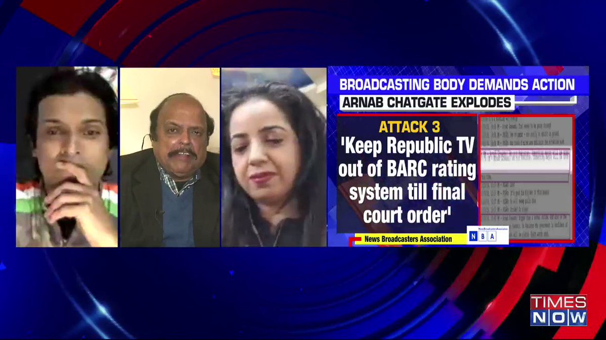 I strongly believe that there's a case of 'political vendetta': @rajalakshmij, Political Analyst, tells Padmaja Joshi on @thenewshour AGENDA.   Vineet Dhanda, Advocate SC counters. | #ArnabChatGate