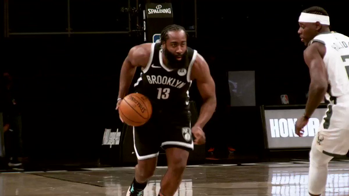 Harden up to 16 PTS, 7 AST on TNT.  @BrooklynNets x #PhantomCam https://t.co/68LeCevOpa