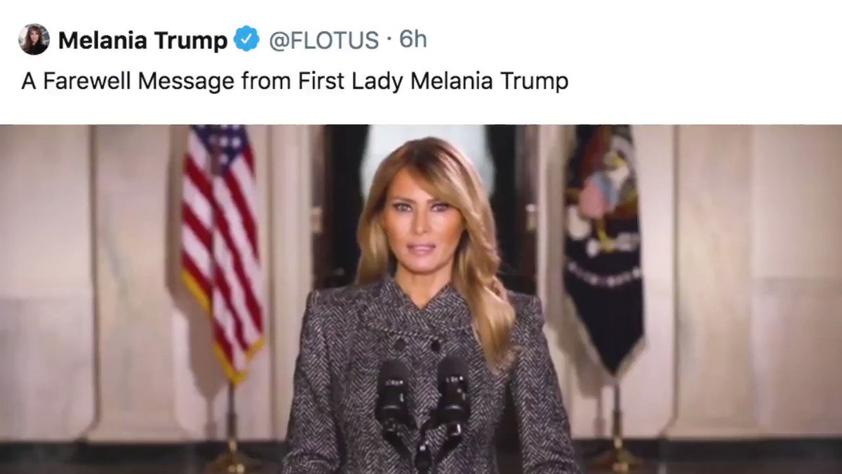 A farewell message from our First Lady. Please take time to watch #bebest