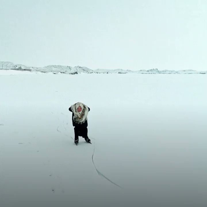 Inspiring video of an 80-year-old ice skater who lives on Lake Baikal in Siberia...